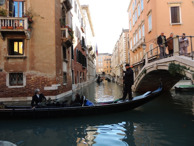 Many more gondolas, this is very close to Piazza San Marco
