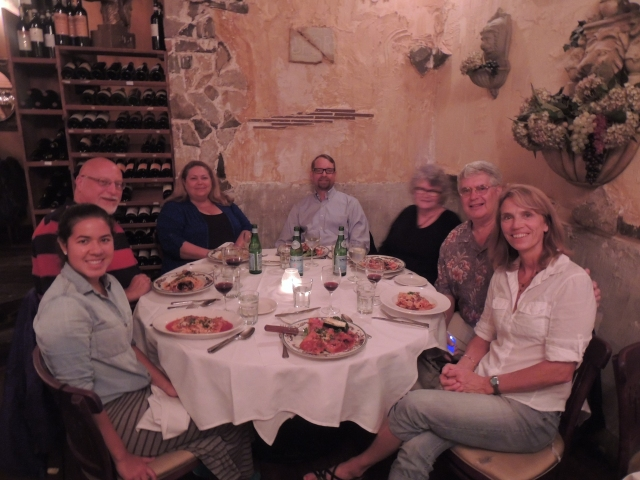 Paola, Dale, Robin, Ross, Michelle, Max and Anna