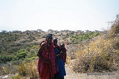 A Masai family