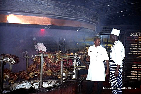 Farewell dinner at the famous Carnivore Restaurant, Nairobi, Kenya