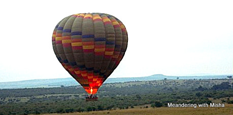 Up, up and away over the Masai Mara