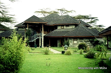 The lodge on the shores of Lake Naivasha