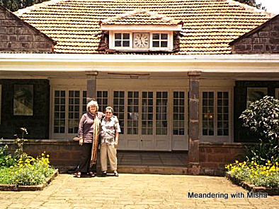 Michelle and Maribeth at the entrance to Karen Blixen House (Out of Africa), Nairobi Kenya