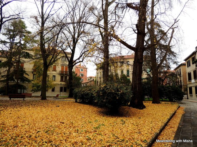 The falling leaves drift past my window....the autumn leaves of red and gold... St. Elena, Venezia, Italia