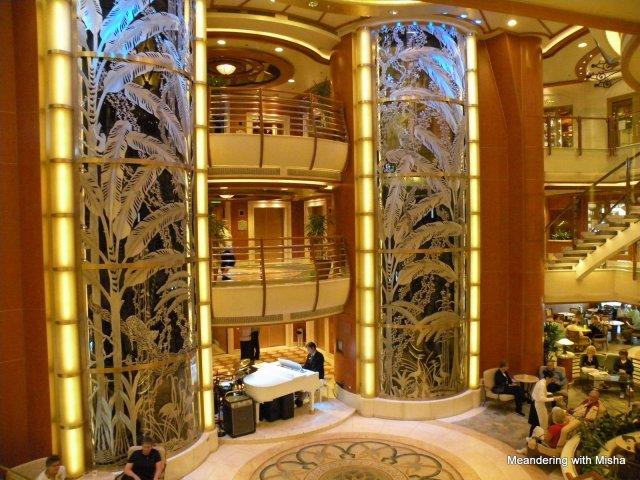 Those side columns are glass elevators