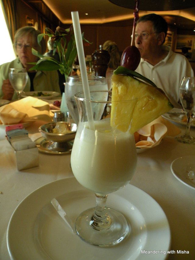 Honest...it's not a pina colada...it's a cold pineapple soup.